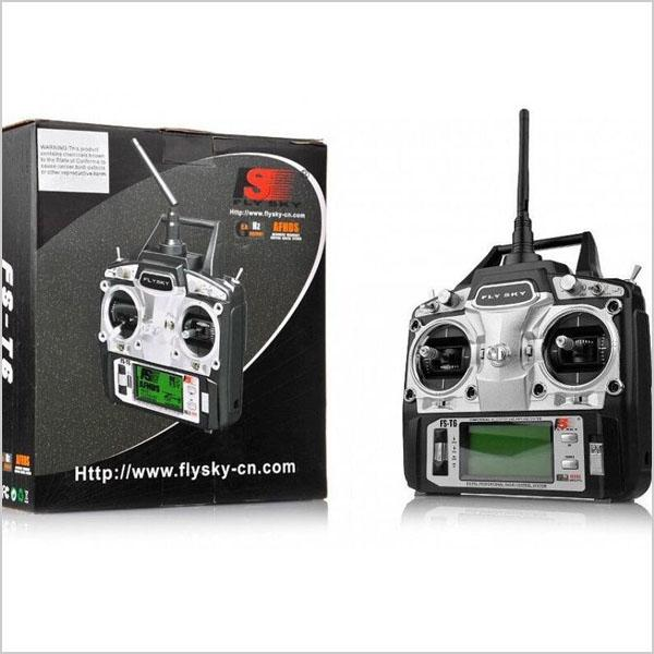 Flysky 6 Channel Radio Controller FS-T6 with R6B Receiver for Rc Helicopter, Rc Airplane, Fpv Drone