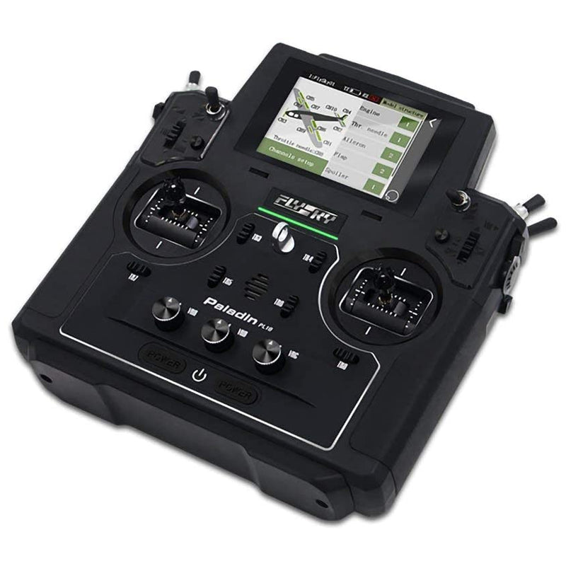 Flysky PL18 Paladin AFHDS 3 Radio Transmitter w/ FTr10 & FTr16s Receiver for Rc Airplane, Rc Helicopter, Rc Drones, Mode 2
