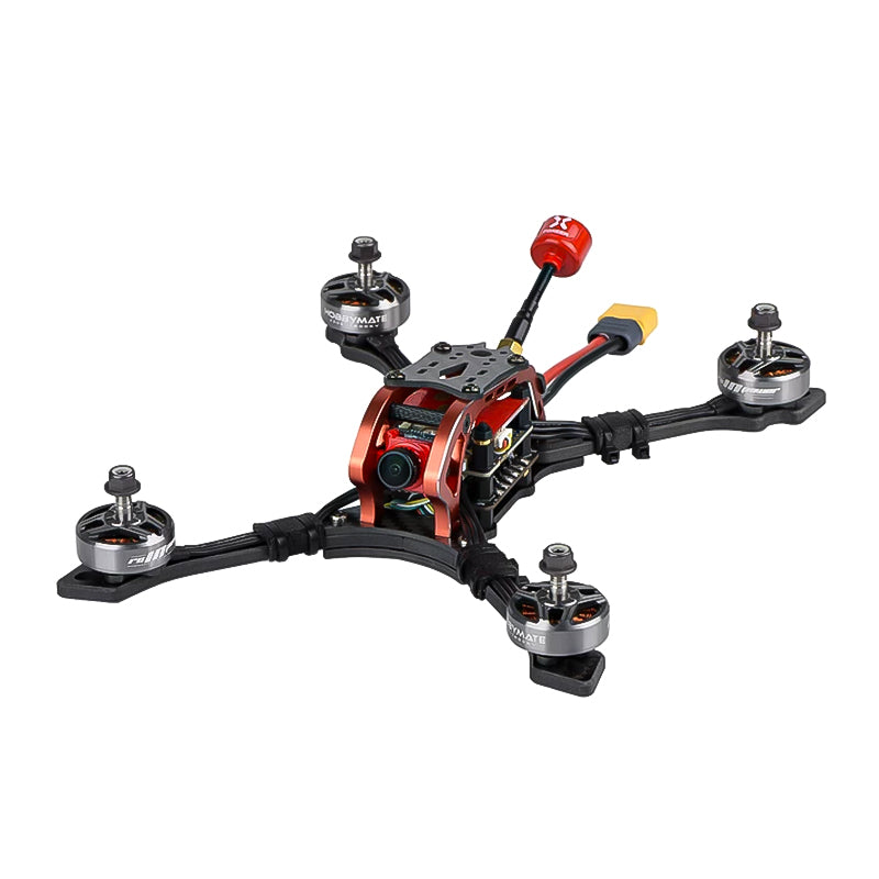 "HOBBYMATE Meteor 5"" 5 inch FPV Racing Drone Stretch X Frame Kits / Pnp, Support 4-6S Lipo Power"