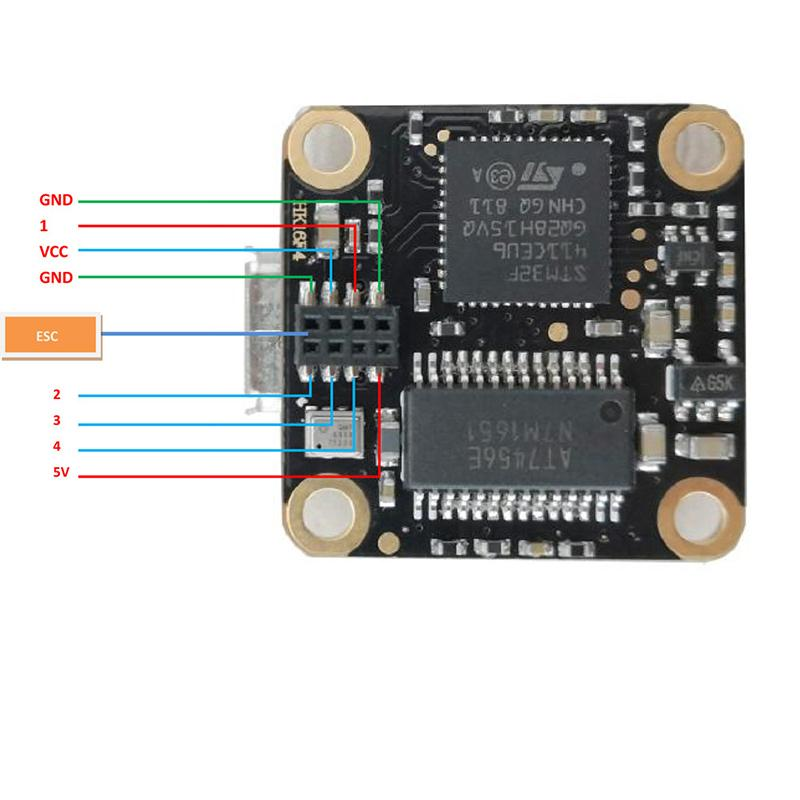 HAKRC 16x16mm flytower F4 OSD flight controller w/ RGB LED and 1S 10A BL_S 4in1 ESC for RC drone
