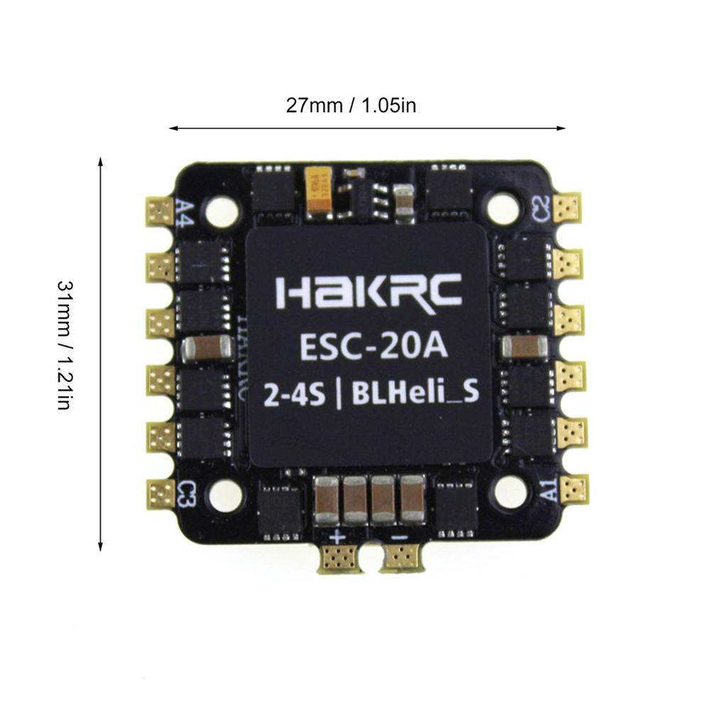 20A 4-in-1 Blheli_S ESC mini F3 F4 Flight Controller Board Built-in Barometer OSD 20 x 20 mm Brushless Support 4S for FPV Drone
