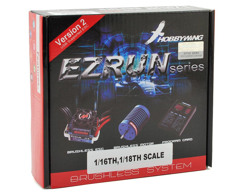 Hobbywing EZRun 18A Sensorless Brushless ESC/Motor Combo (18.0T/5200kV) w/Program Box
