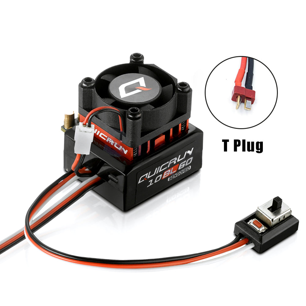 Hobbywing Quicrun 10BL60 Sensored 60A Sensored Brushless ESC Speed Controller for 1/10 1/12 RC Car