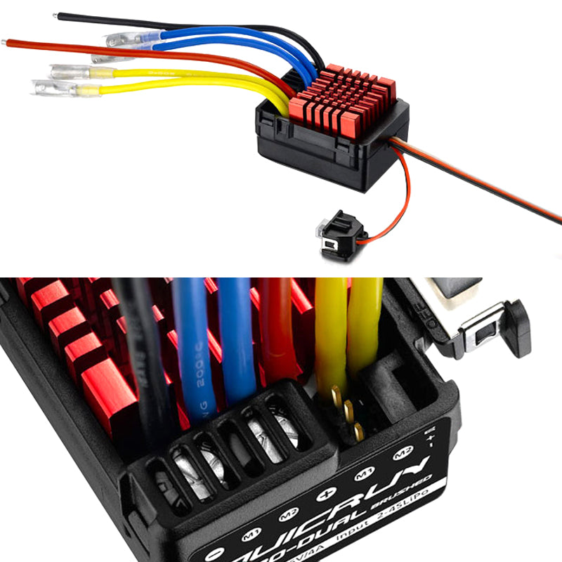 Hobbywing QuicRun WP 880 Dual Brushed ESC (2-4S) for 1:8 / 1:10 Rc Car / Truck Vehicle
