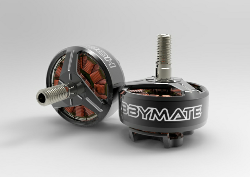 Hobbymate 2207+ Brushless Motor for FPV Drone, FPV Quadcopter, 2250Kv Support 4S - 6S power