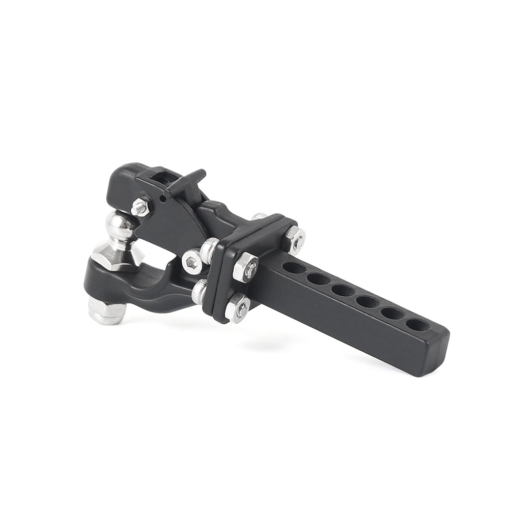 Metal Adjustable Trailer Hitch Mount for 1/10 RC Crawler Traxxas TRX4 Axial SCX10