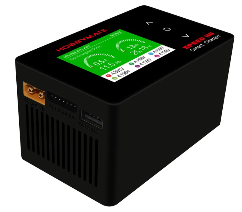 HOBBYMATE Speed H6 Lipo Charger 700W DC / 200W AC, Fast Balance Charger