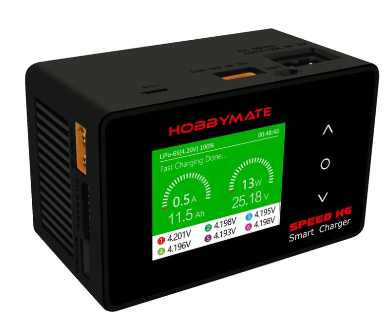 HOBBYMATE Speed H6 Lipo Charger 700W DC / 200W AC, Fast Balance Charger, FPV Drone Charger