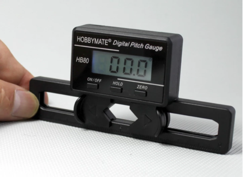 Hobbymate Digital Pitch Gauge for FBL Flybarless Electric Rc Helicopter Align Trex 450, 500, 700 and More Models, Auto-detecting Horizontal level