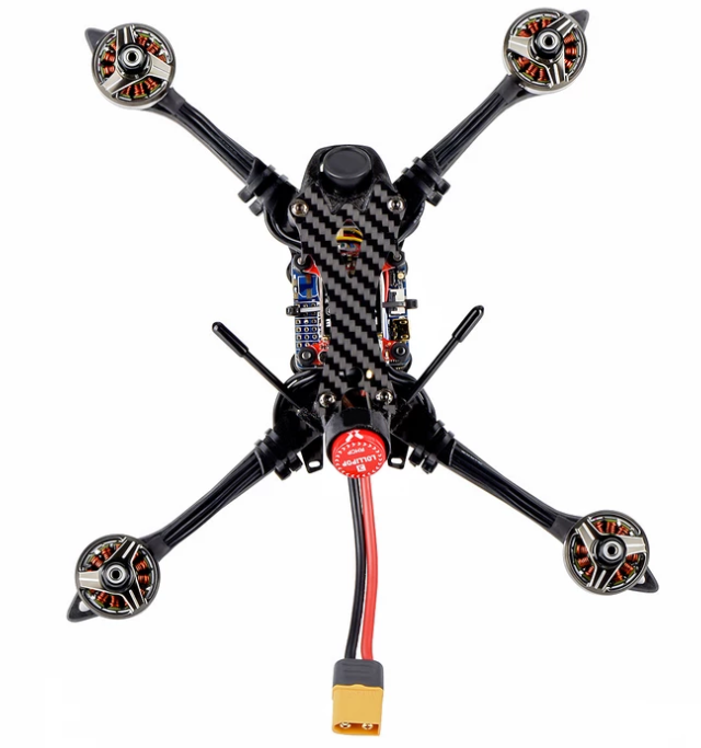 "HOBBYMATE Flash Hybrid 5"" FPV Racing Drone Kits / Pnp / Bnf, 215mm Platform Carbon Fiber, Support 4-6S Lipo Power"