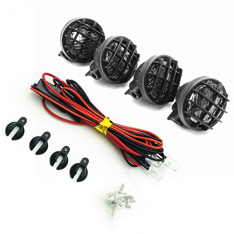 RC Car Round Lampshade / Light Cover with Light for 1:10 RC Crawler Axial SCX10 D90 Tamiya CC01