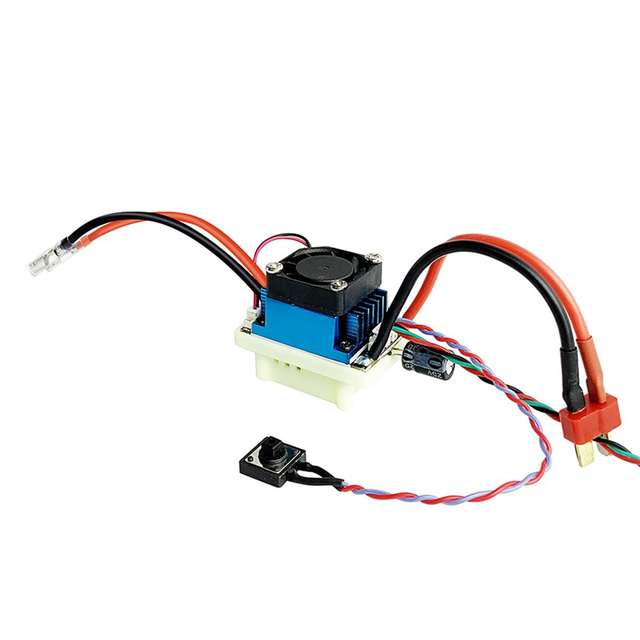 Radiolink 9030 Two-way Brushed Electronic Speed Controller 2-4S 90A ESC with BEC 2KHz PWM for RC Car Boat