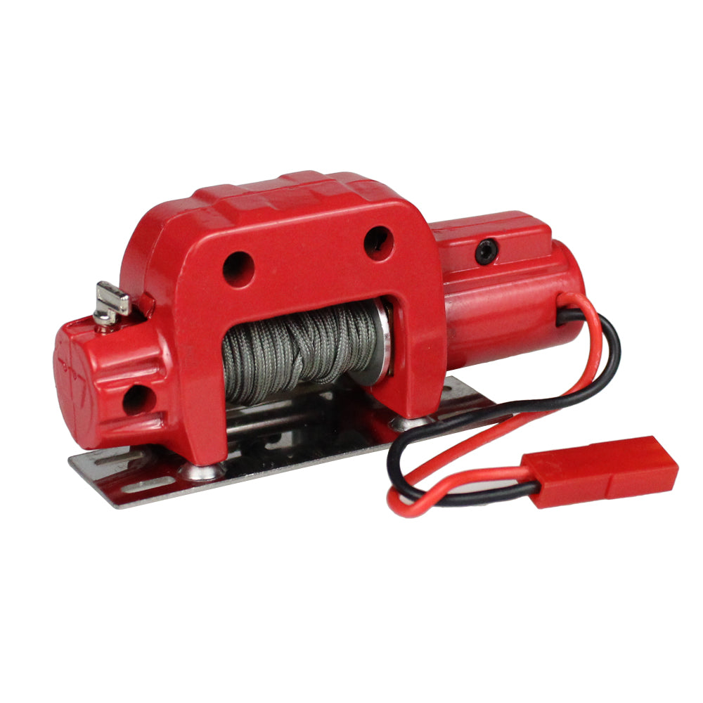 Rc Car Metal Steel Wired Automatic Simulated Winch For 1/10 Rc Crawler Car Axial Scx10 90046 D90 Traxxas Trx4