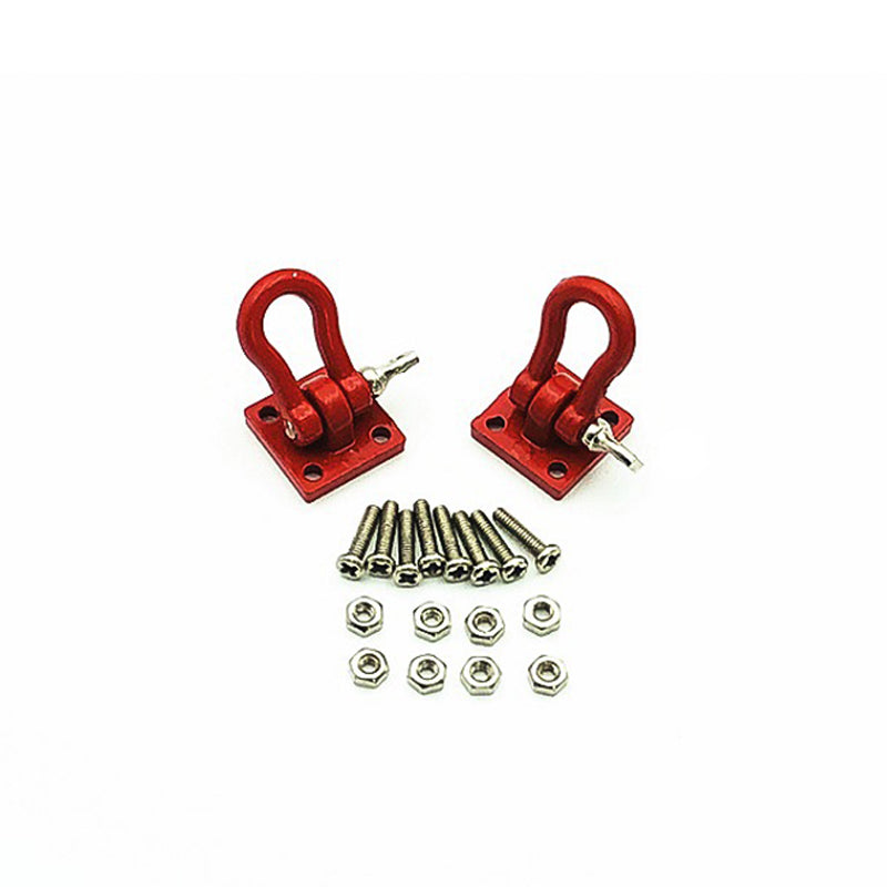 Rc Car Metal Red and Black shackle Decoration for 1:10 Rc Rock Crawler Traxxas Trx-4