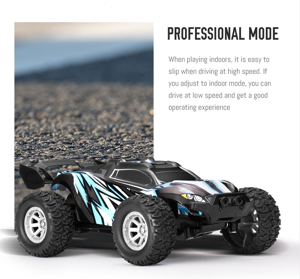 Rc Toy Buggy 1:32 Miniature Battery Operated Mini Remote Control Blue Car for Kids RTR