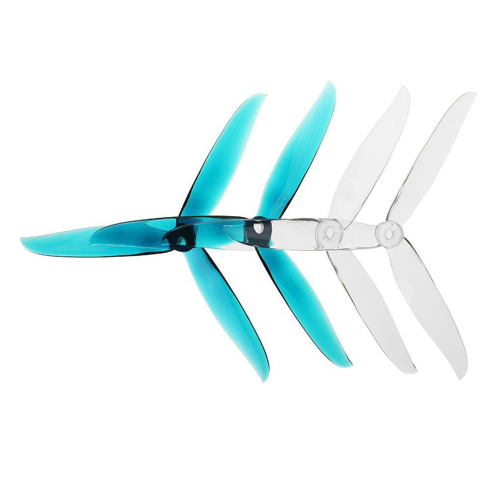 Dal Cyclone T7056C 3-Blade Propellers 7 inch Props CW CCW Long Range High Efficiency for 7 inch FPV Freestyle Drone Frame - 2 Pairs