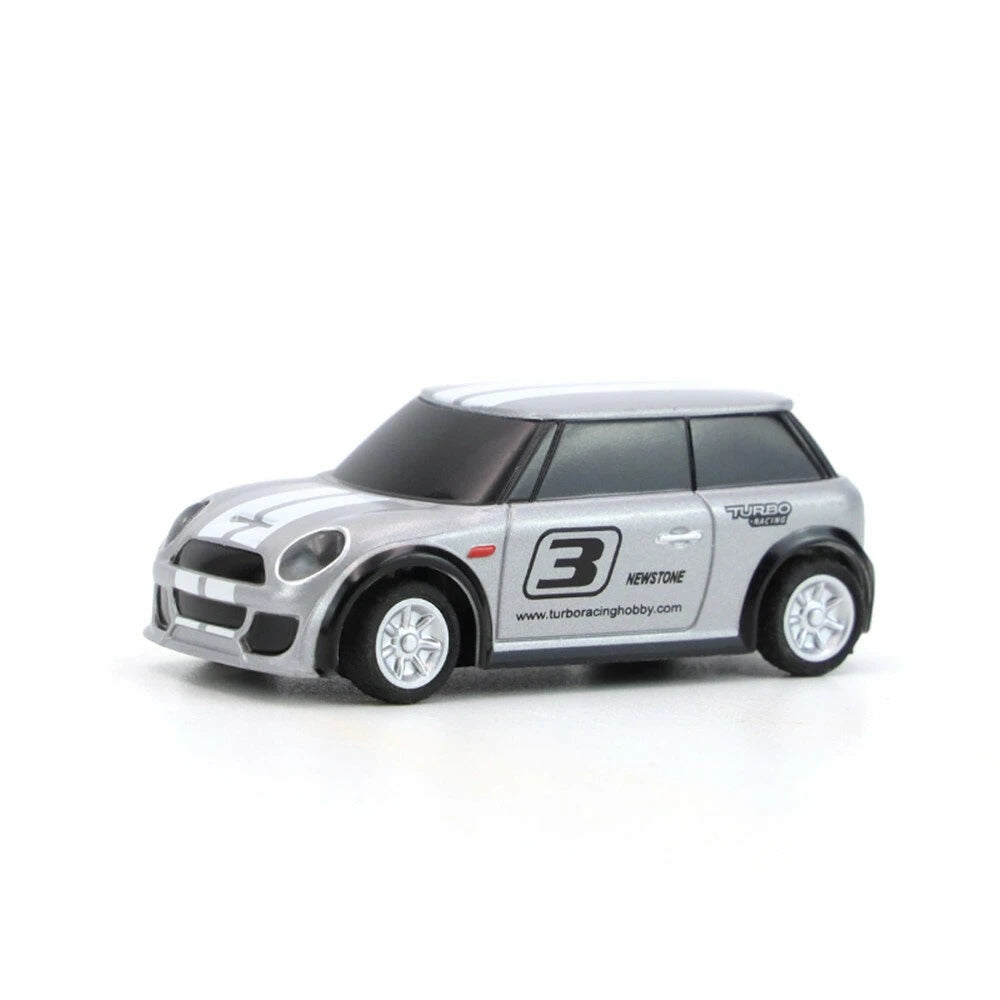 Turbo RTR 1/76 2.4G 2WD Fully Proportional Control Mini RC Car LED Light Vehicles Model