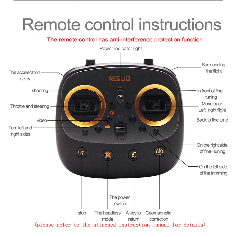 Visuo XS812 GPS RC Drone with 4K HD Camera 5G WIFI FPV Altitude Hold One Key Return RC Quadcopter