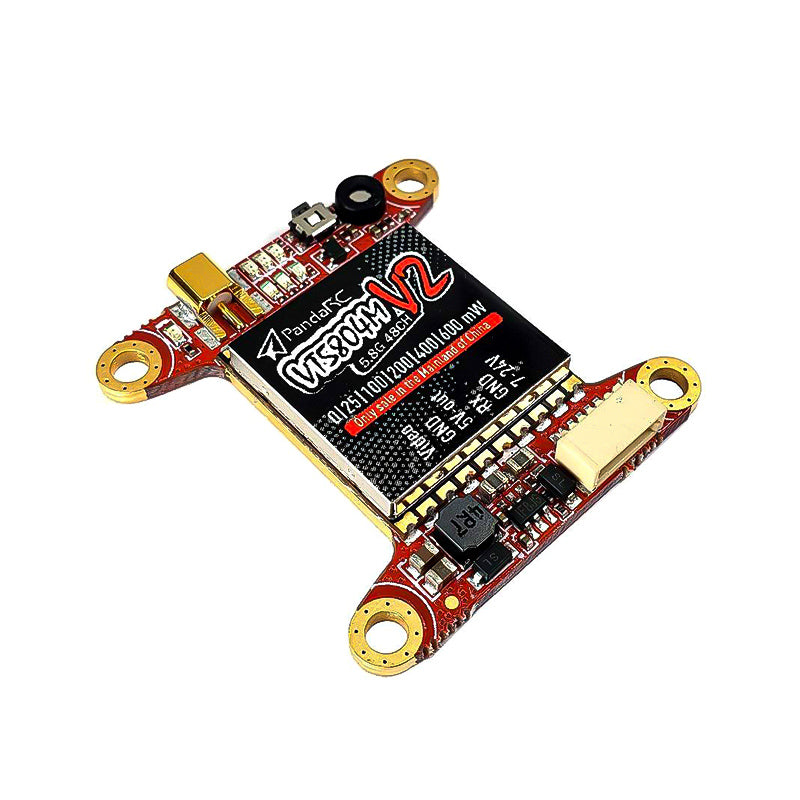 VT5804M V2 30x30mm 2-6S 5.8G 48CH Pit/25/100/200/400/600mw Switchable VTX FPV Video Transmitter, Tramp Protocol Smart Audio MIC