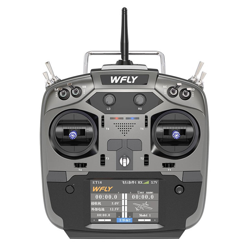 WFLY ET16 Transmitter Compatible 4IN1 R9M TBS Crossfire Module with RF209S 9CH Receiver for RC Drone