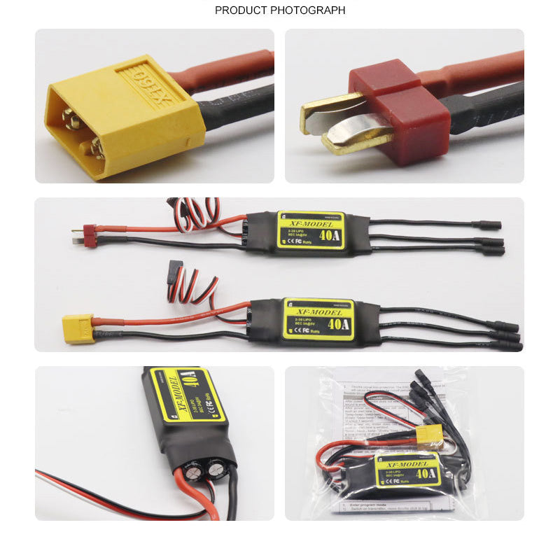 XF40 40A Brushless ESC T / XT60 Plug For SU27 RC Airplane EPO fixed wing for Rc Quadcopter Drone Model