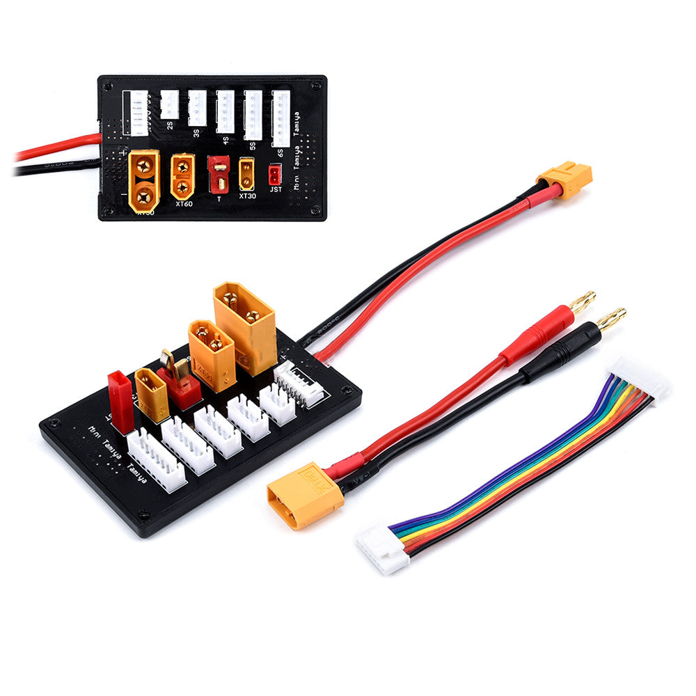 XT30 XT60 XT90 JST T Connector Lipo Battery Charger Board 2-6S Parallel Balance Charging Board