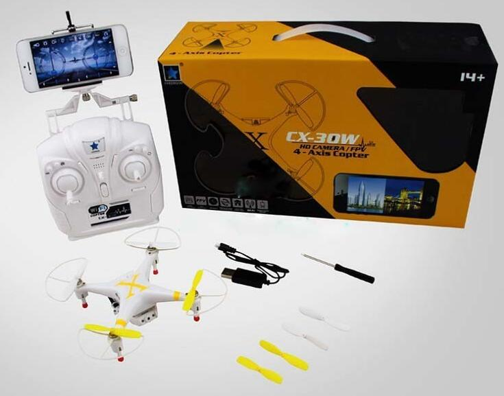 Cheerson CX-30W Wifi Control 2.4G 4CH 6 Axis RC Quadcopter with Camera RTF mini Remote Control Drone