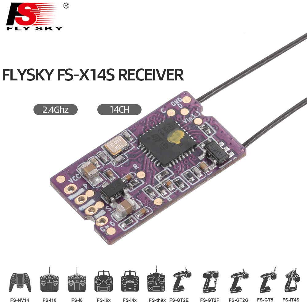 Flysky FS-X14s Receiver 2.4Ghz 14 Channels PPM i-Bus S.Bus Outputs for Flysky FS-i6 Nv14 FS-I6x FS-i4 FS-i4x Transmitter
