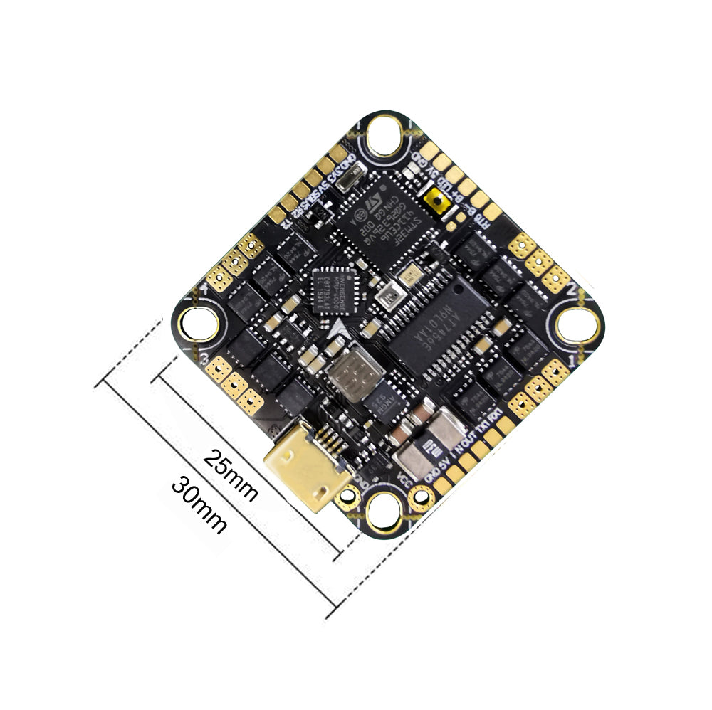 Hobbymate F4 2-6S AIO Flight Controller and Brushless 35A 4in1 ESC (BLHeli_s) for FPV Drone Build, Toothpick FPV Drone 3-5""