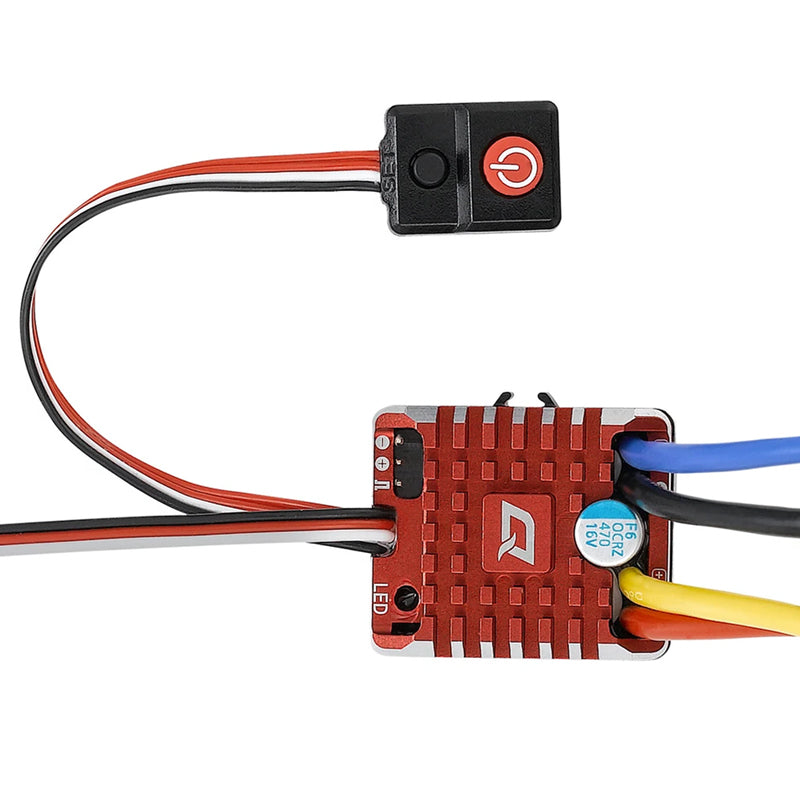 QuicRun WP 1080 Brushed ESC w/ Program Card for 1/8 or 1/10 Rock Crawler, Touring car, RTR super upgrade