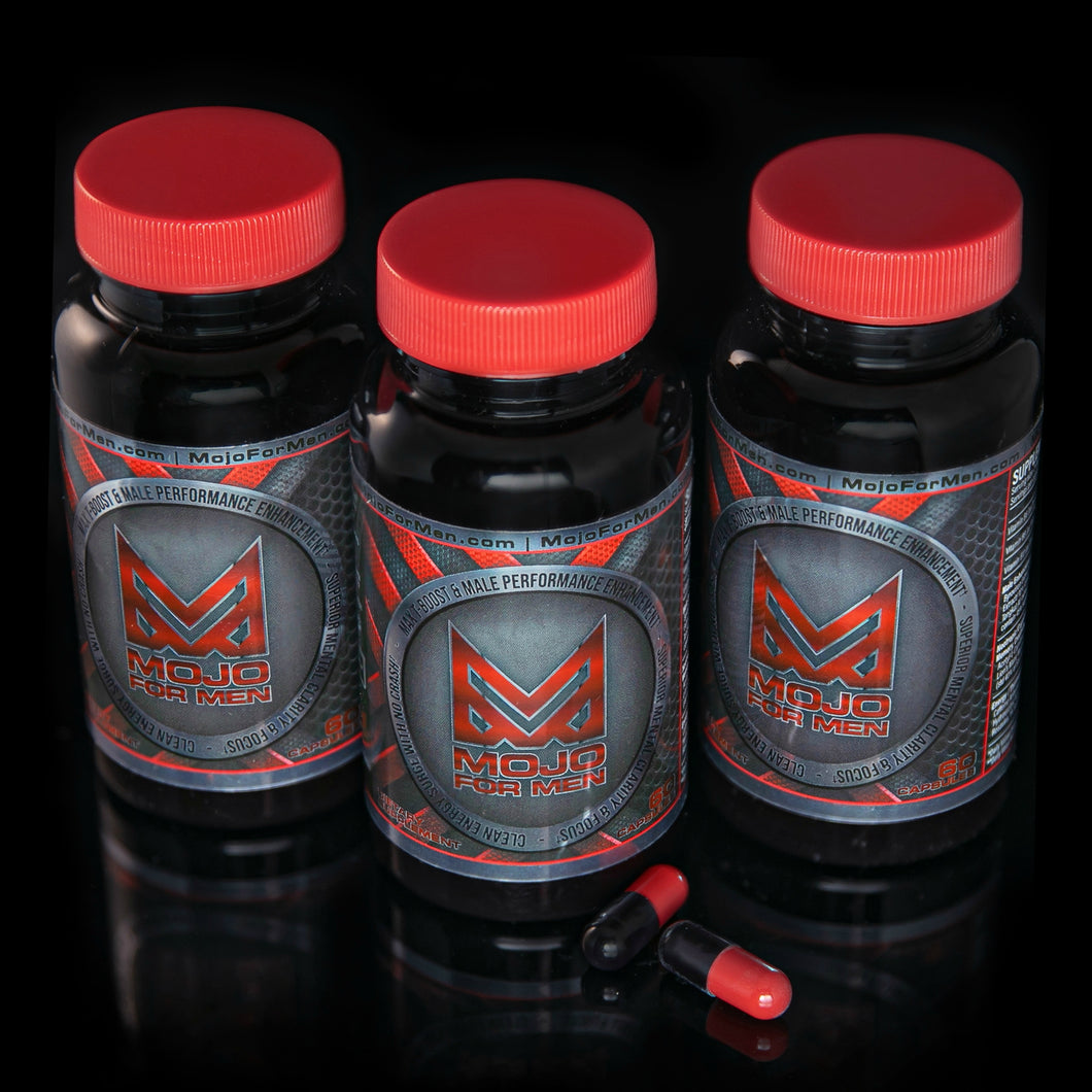Mojo For Men - Buy 2, GET ONE FREE! 90 Day Supply, 180 Capsules + FREE SHIPPING