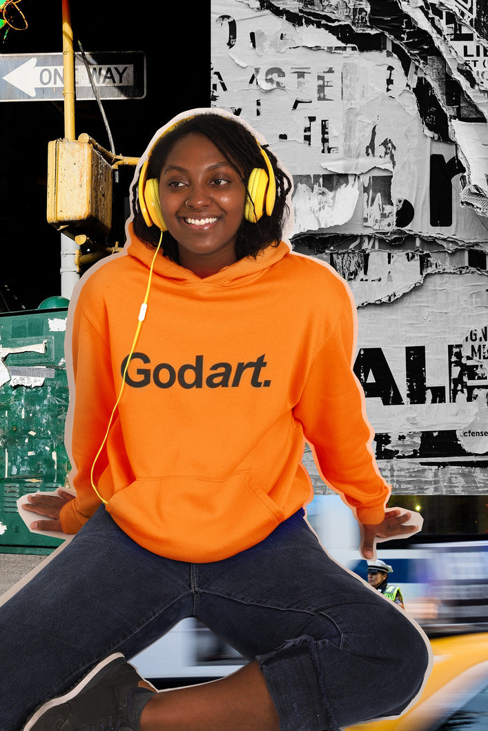 NEON Saftey Orange Godart Hooded Sweatshirt (GENDER NEUTRAL)