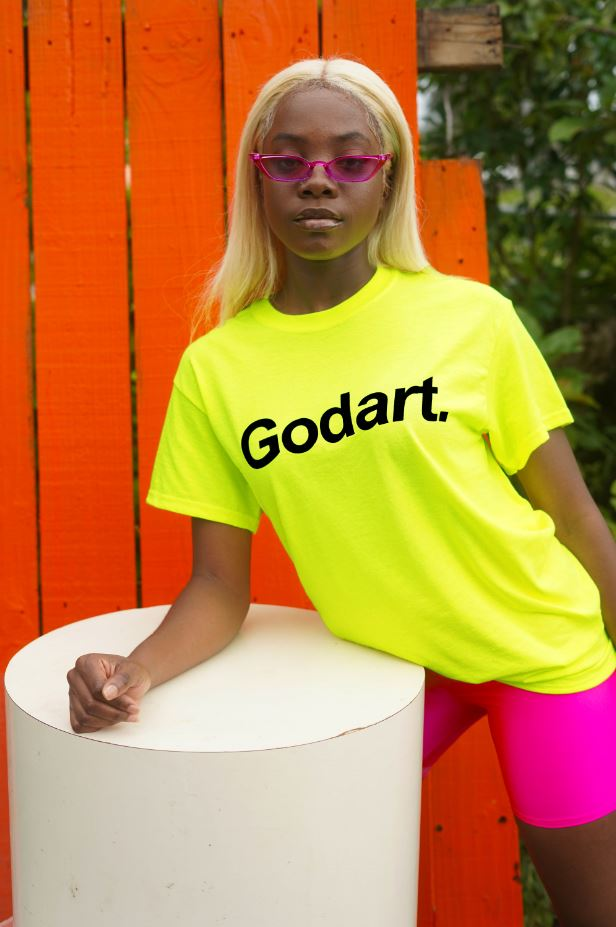 NEON Highter Yellow  Godart Logo TEE (GENDER NEUTRAL)