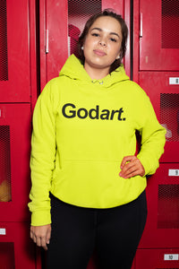 NEON Highter Yellow  Godart Hooded Sweatshirt (GENDER NEUTRAL) PLUS