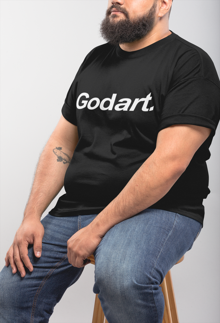 Black Godart Logo TEE (GENDER NEUTRAL) PLUS