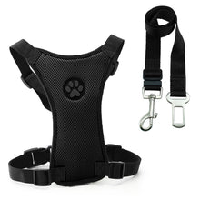"Load image into Gallery viewer, ""Paw Print"" Pet Harness + SEAT BELT!!"