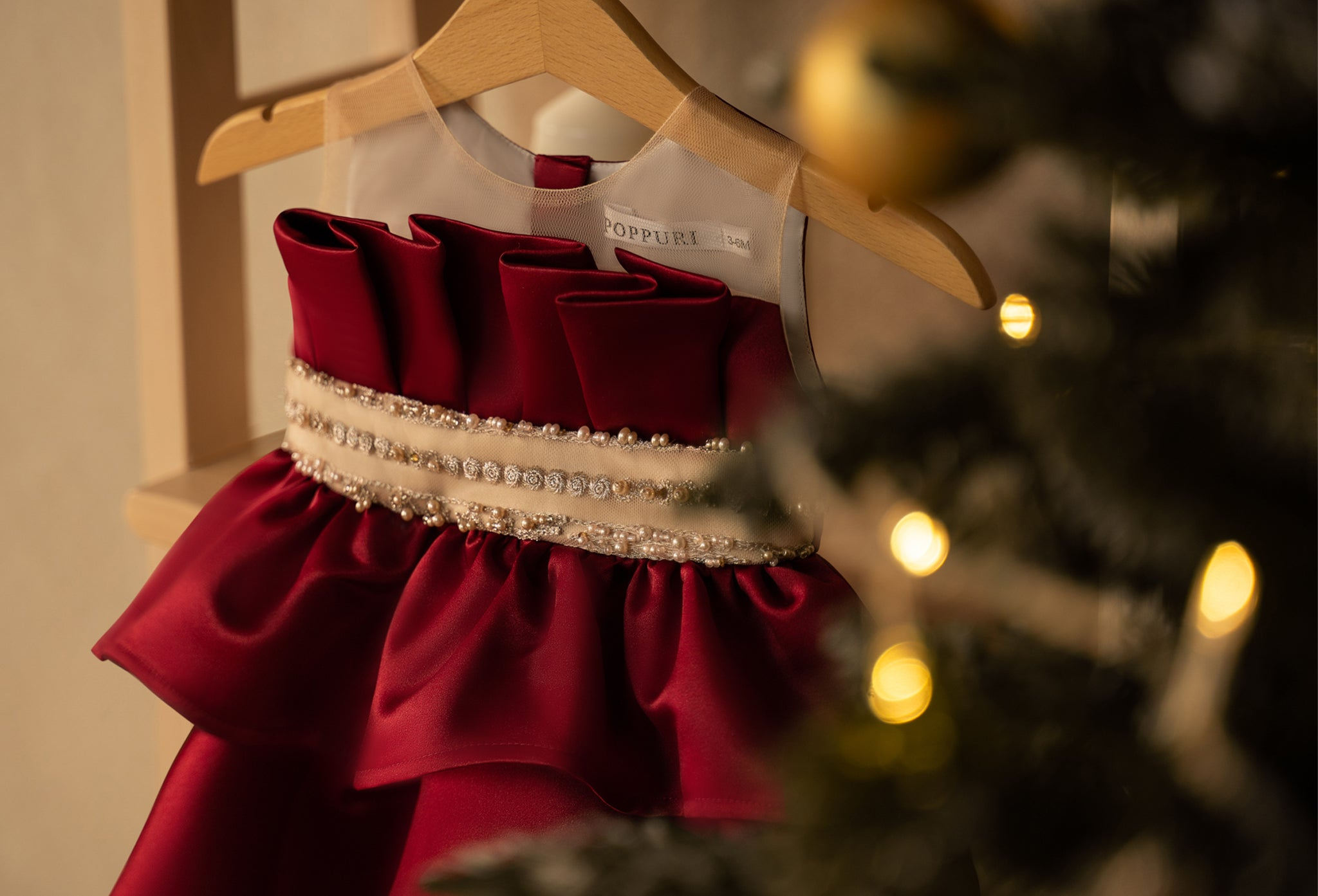 red baby kids Christmas dress