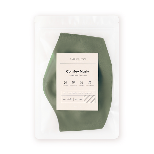 Comfey Masks Adults Army Green