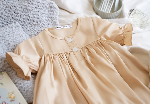 Belvoire Dress in Gold