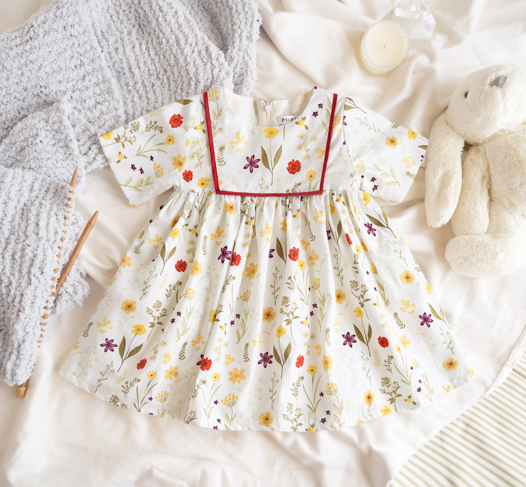 Chamomile Dress in White