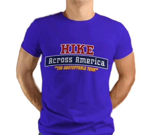 Hike Across America Tee, Blue