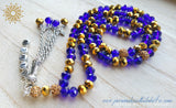 Metallic Gold & Blue-PersonalizedTasbihs4u
