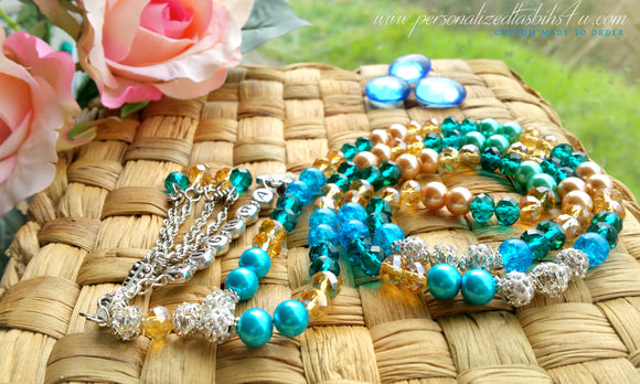 Turquoise Gold-PersonalizedTasbihs4u