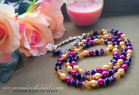 Purples & Golds-PersonalizedTasbihs4u