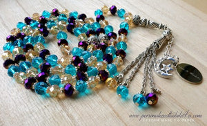 Sky Blue/Gold/Metallic Purples-PersonalizedTasbihs4u