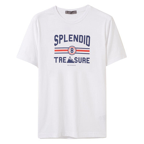 Giordano Men Tshirt Men Comfortable Blended-cotton Fabric Summer Men Clothes 2019 Printed Round-neck Fashion Camiseta