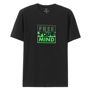 Giordano Men T Shirt Short Sleeve Summer Tops For Men Camisetas Hombre Manga Corta Free Your Mind Series Graphic Tee Shirt