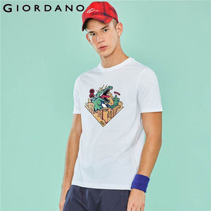 Giordano Men Tshirt Men Supzeol Serie Printed Animal Patterns Stylish Short-sleeve Summer Camiseta Masculina