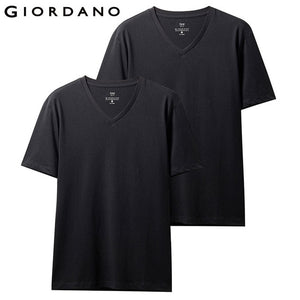 Giordano Men T-Shirt Pack Of 2 Solid Crewneck T Shirt Men Short Sleeve Summer Tops Tee Shirt Homme Camisetas Hombre