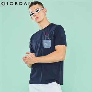 Giordano Men Tshirt Women New Arrivals Printed Funny Graphic Round-Neck Tee Shirt Unisex Summer Short-sleeve Fashion Chemise